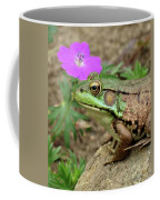 Flower, Frog, Fly Coffee Mug