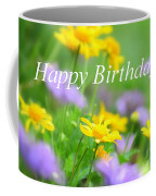 Flower Garden Birthday Card Coffee Mug