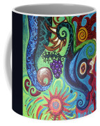 Flower Goyle With Grapes Coffee Mug
