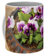Flower - Pansy - Purple Pansies Coffee Mug