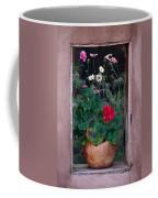Flower Pot In Window Coffee Mug