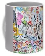 Flowered Mural Coffee Mug