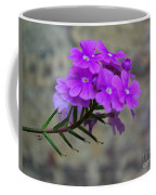 Flowers Against The Wall Coffee Mug