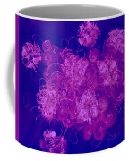 Flowers, Buttons And Ribbons -shades Of  Blue To Fuchsia Coffee Mug
