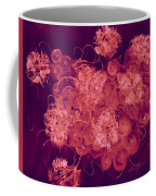 Flowers, Buttons And Ribbons -shades Of Burbundy Rose Coffee Mug