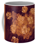 Flowers, Buttons And Ribbons -shades Of Burnt Umber Coffee Mug