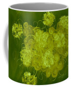 Flowers, Buttons And Ribbons -shades Of Chartreuse Coffee Mug