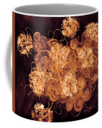 Flowers, Buttons And Ribbons -shades Of  Chocolate Mocha Coffee Mug