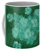 Flowers, Buttons And Ribbons -shades Of Green Coffee Mug
