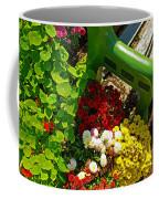Flowers By Green Bench Coffee Mug