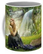 Flowers By The Falls Coffee Mug