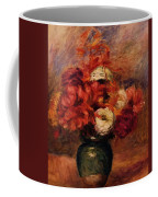 Flowers In A Green Vase Dahlilas And Asters Coffee Mug