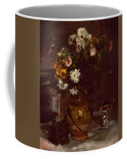 Flowers In A Vase And A Glass Of Champagne Coffee Mug