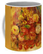 Flowers In A Vase With Blue Decoration Coffee Mug