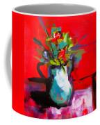 Flowers In Blue Green Pitcher Coffee Mug