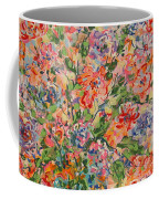 Flowers In Crystal Vase. Coffee Mug