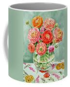 Flowers In The Glass Vase Coffee Mug