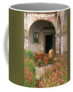 Flowers In The South Wing, Mission San Juan Capistrano, California Coffee Mug