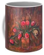 Flowers Of Pink In Vase Coffee Mug