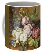 Flowers On A Ledge Coffee Mug