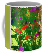Flowers On Display As Abstract Art Coffee Mug