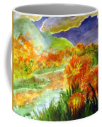 Flowers On The Mountain Coffee Mug