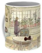 Flowers On The Windowsill Coffee Mug