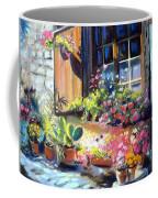 Flowery Window Of France Coffee Mug