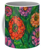 Flowing Zinnias Coffee Mug