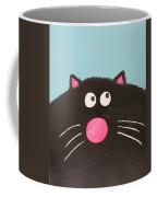 Fluffy Black Cat Coffee Mug