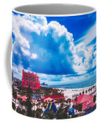 Fluffy Clouds Over Clearwater Beach Coffee Mug