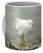 Fluffy Snowy Egret Coffee Mug