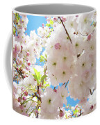 Fluffy White Pink Sunlit Tree Blossom Art Print Canvas Baslee Troutman Coffee Mug