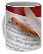 Flute And Feather Coffee Mug by Carlos Caetano