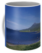 Fly Fishing  By Ardvreck Castle Loch Assynt Scotland Coffee Mug