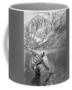 Fly Fishing In A Mountain Lake Coffee Mug
