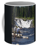 Fly Fishing The Lewis River Coffee Mug