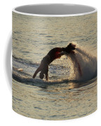Flyboarder Diving In Up To His Arms Coffee Mug