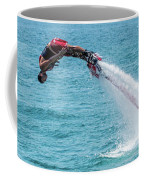 Flyboarder In Red Followed By Water Jet Coffee Mug