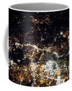 Flying At Night Over Cities Below Coffee Mug