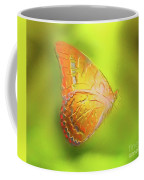 Flying Butterfly On Decorative Background, Graphic Design. Coffee Mug