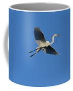 Flying Egret  Coffee Mug
