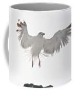 Flying European Herring Gull Coffee Mug