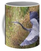Flying Great Blue Heron Coffee Mug