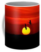 Flying North At Sunrise Coffee Mug