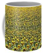 Flying Over Sunflower Fields Coffee Mug