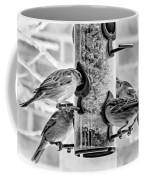 Flying Piglets Bw Coffee Mug