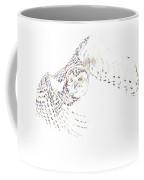 Flying Snowy Owl Coffee Mug