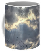 Flying Through Sun Rays 2 Coffee Mug