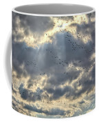 Flying Through Sun Rays Coffee Mug